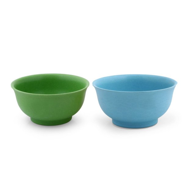 Sevya Classic Eco Friendly Bamboo Crockery Bowls ,Set of 2 Pcs, Multicolour, Biodegradeable