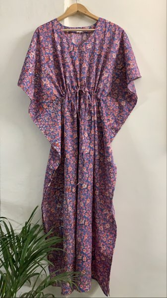Nityaa Hand Block Printed Cotton Kaftan