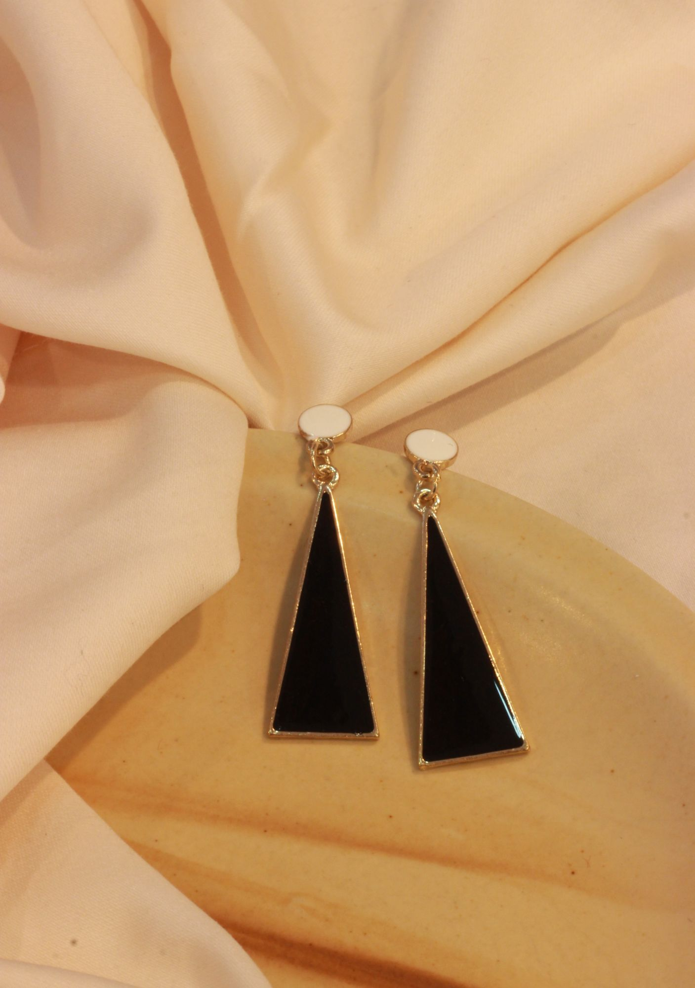 Tri-Angle Drop EarRings