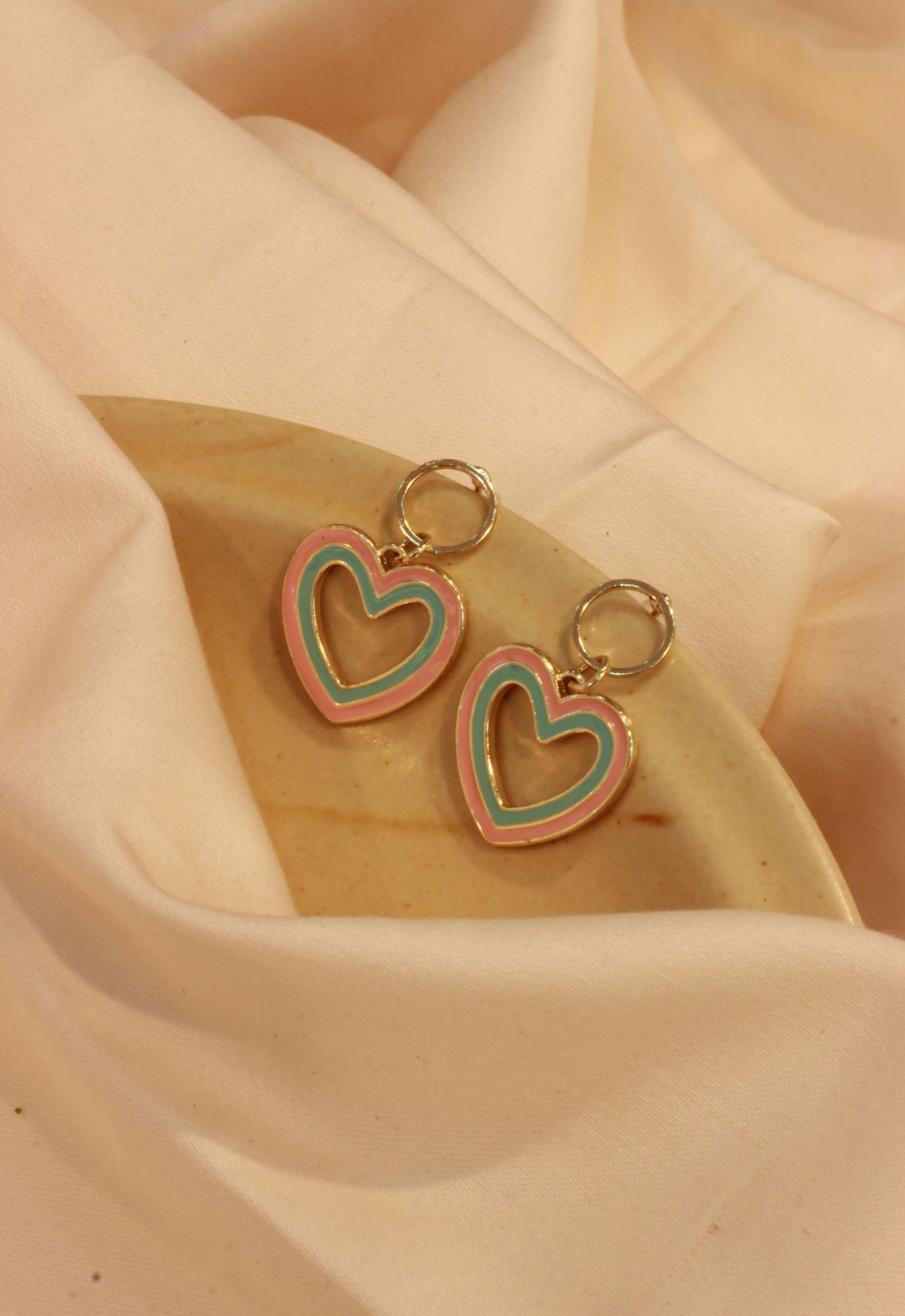 Pretty Hearts Drop  EarRings