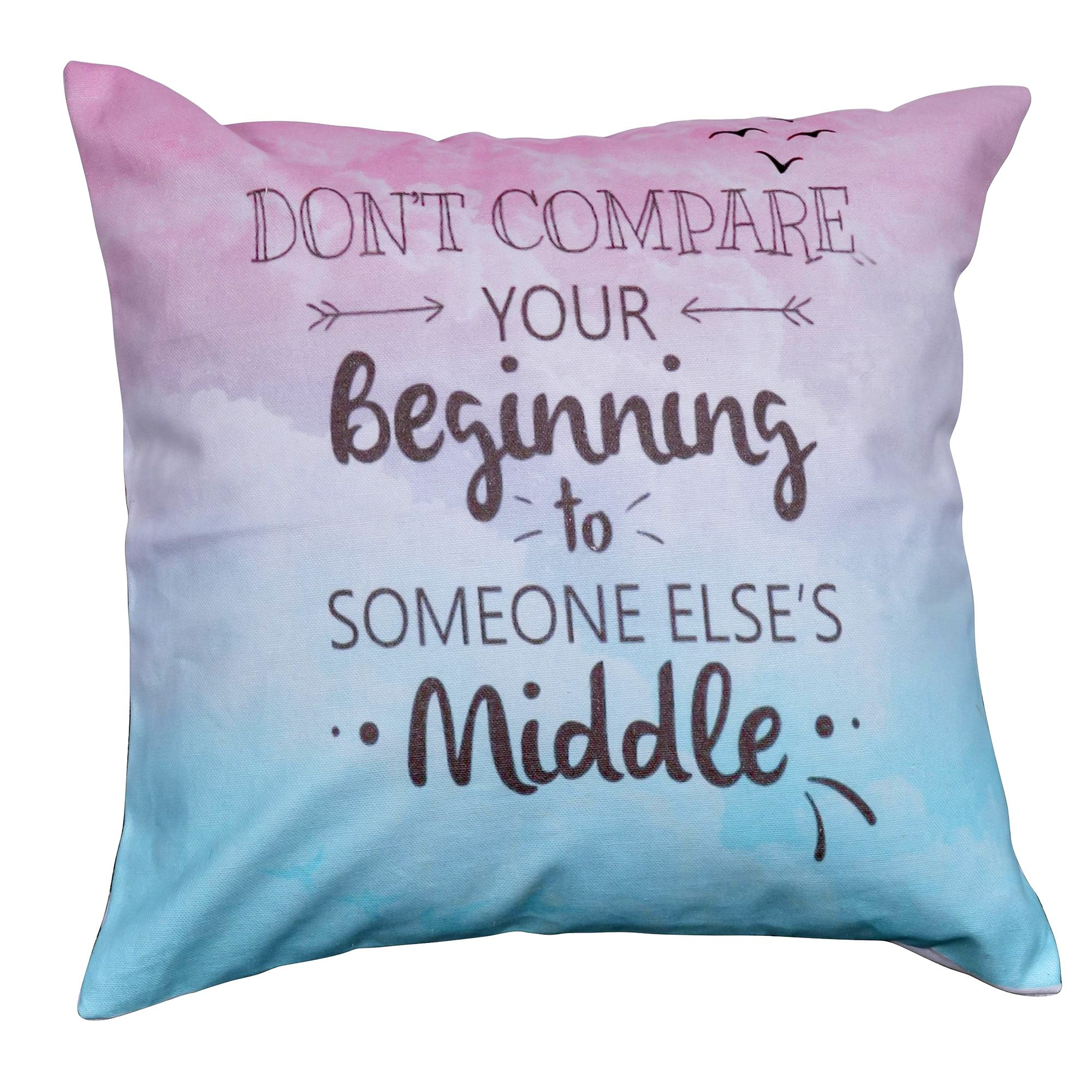 "New Beginnings Digital Print Cotton 16""Cushion Cover"