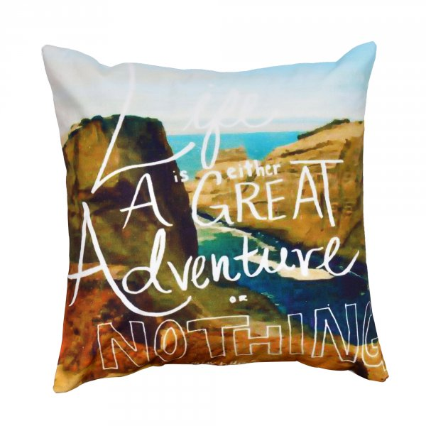"Life is an Adventure 16"" Cushion Cover"