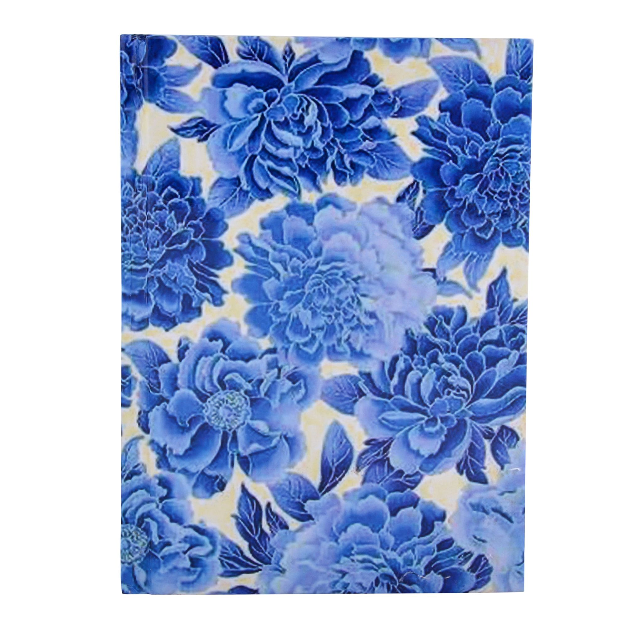 Blue White Floral Handmade Paper Diary