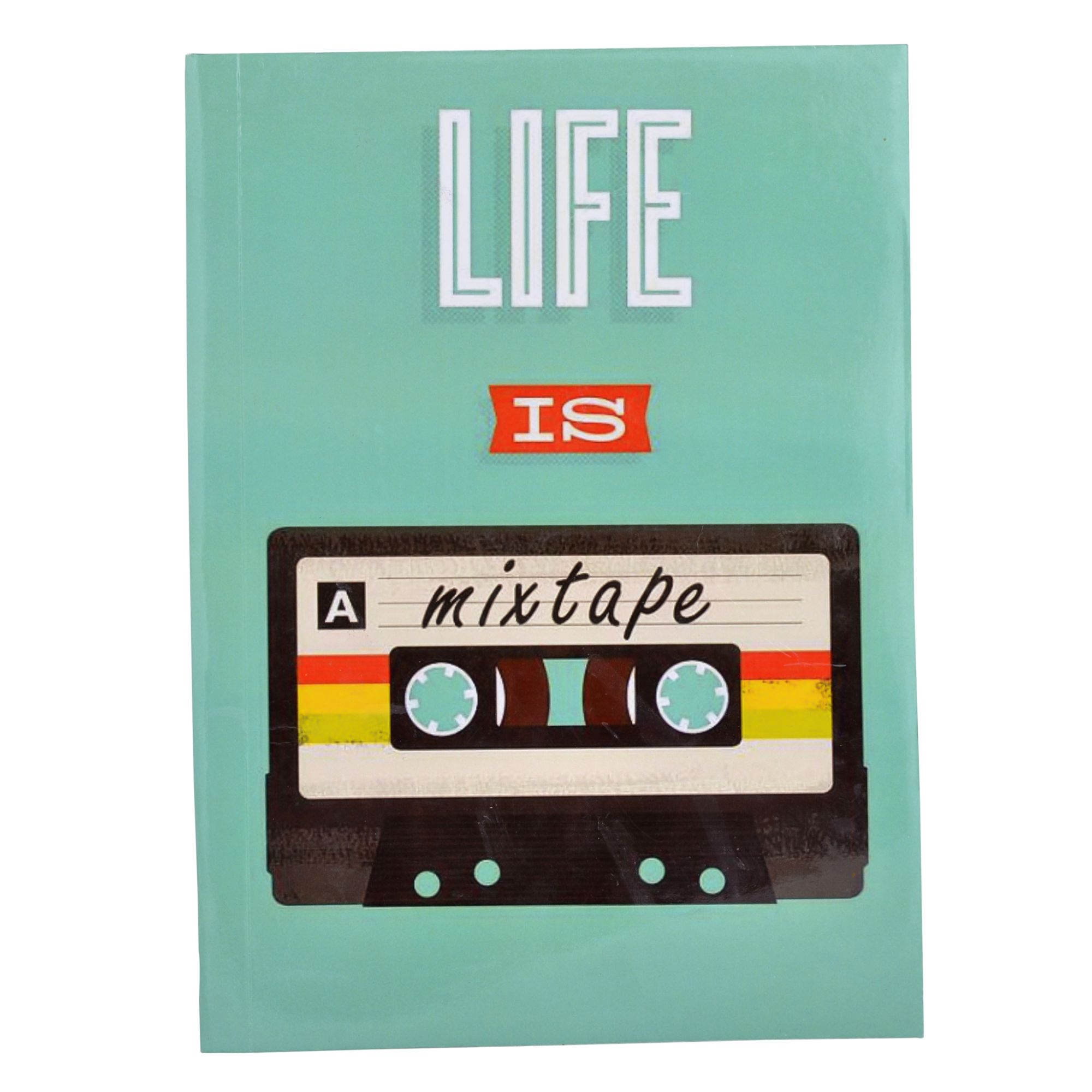 Life Is A Mix Tape Ruled Notebook 11 x 8""