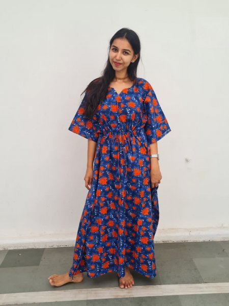 Kumud Cotton Printed Kaftan