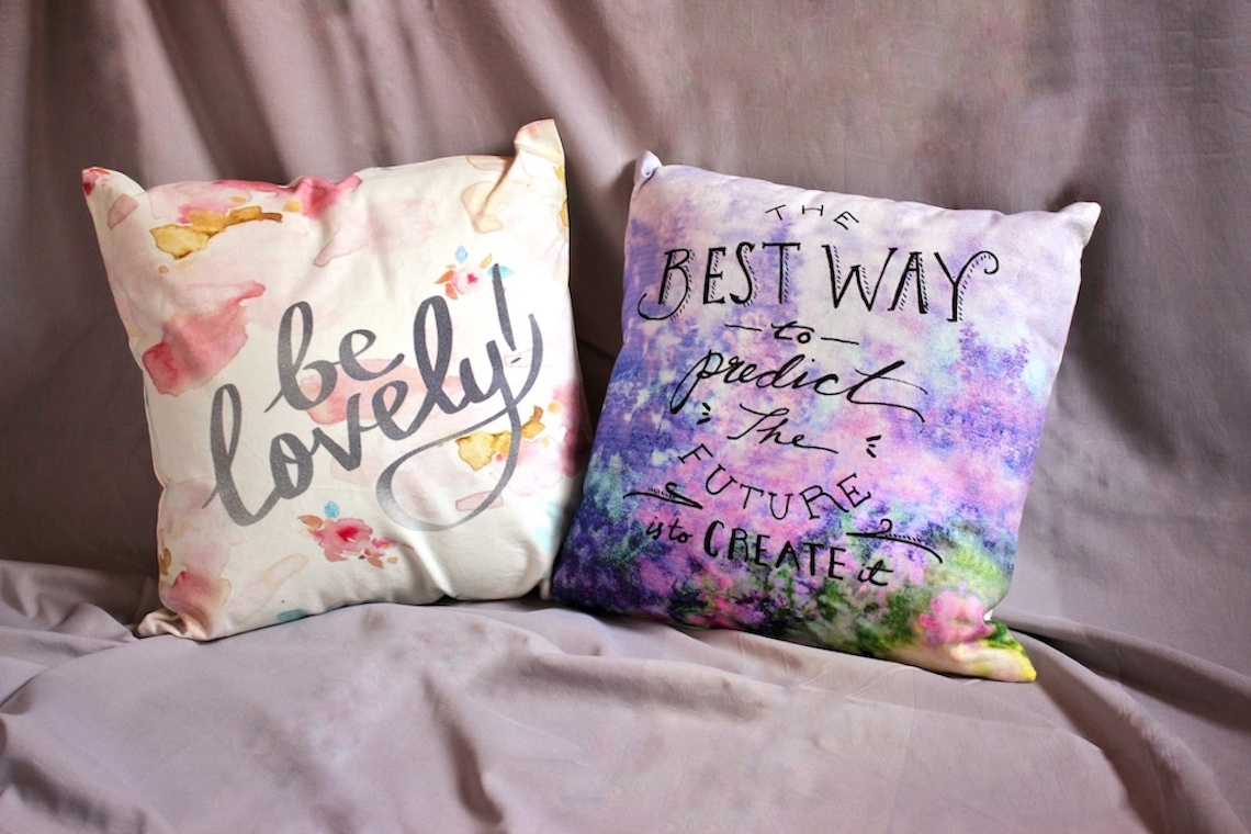 "Be Lovely Pastel 16""Couch Cushions Covers (Set of 2 )"