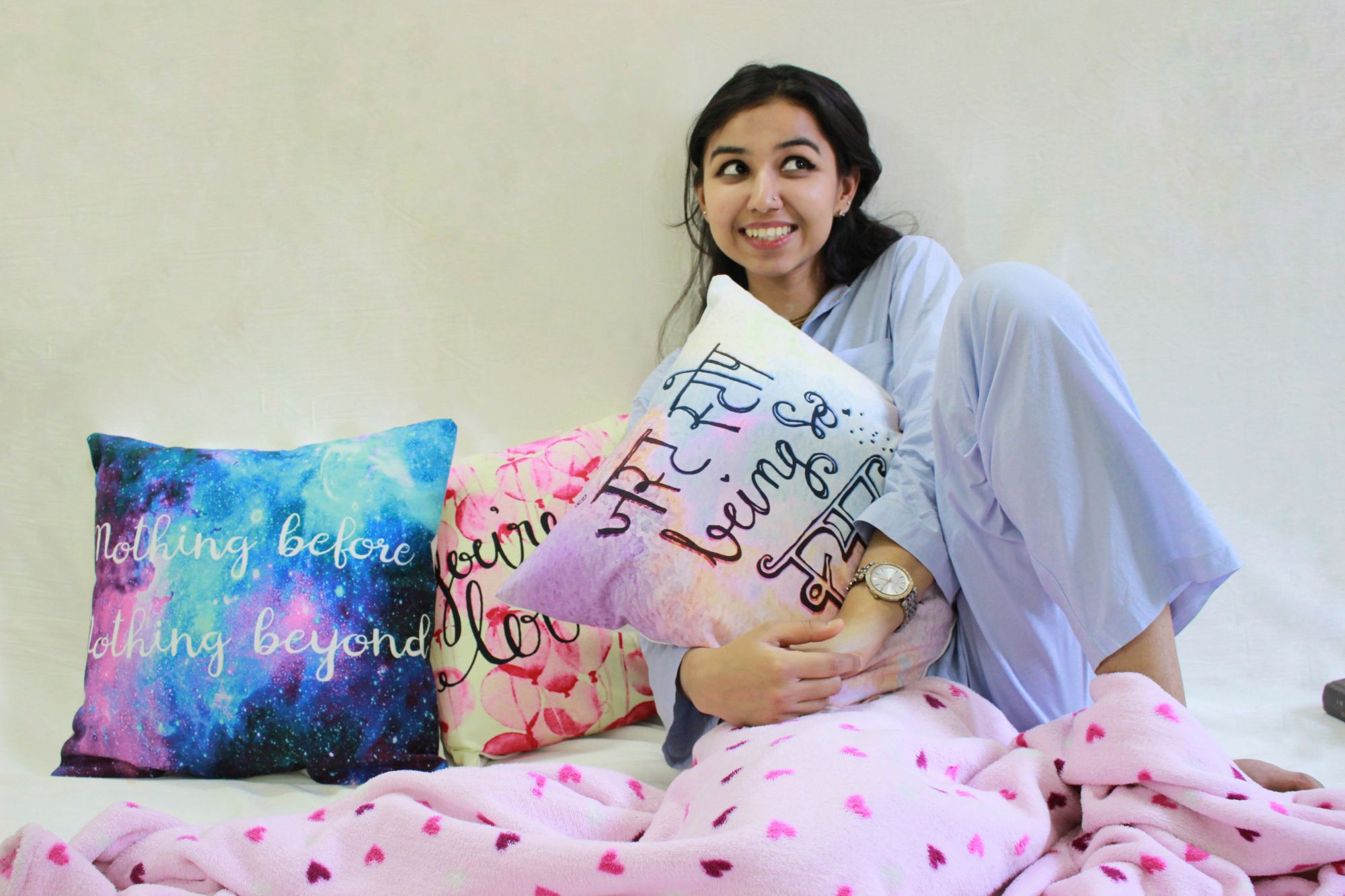 "Cuteness Overloaded 16"" Cushions Covers (Set of 3)"