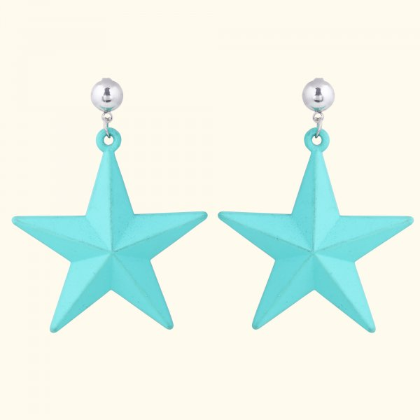 Aqua Star Drop EarRings