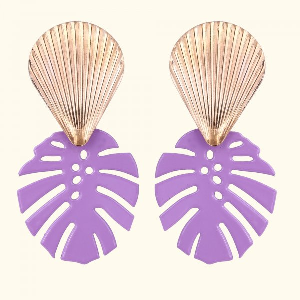 Shell Leaf Drop EarRings