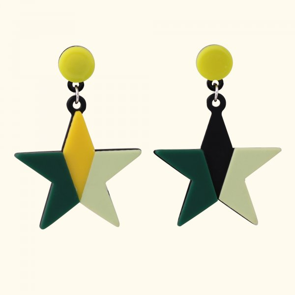 Multicolour Star Drop EarRings