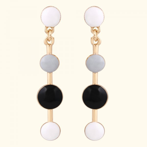 Round Decor Drop EarRings