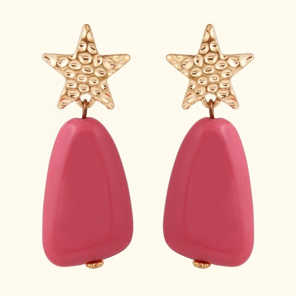 Metal Star Drop EarRings