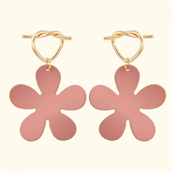 Feisty Flower Drop EarRings
