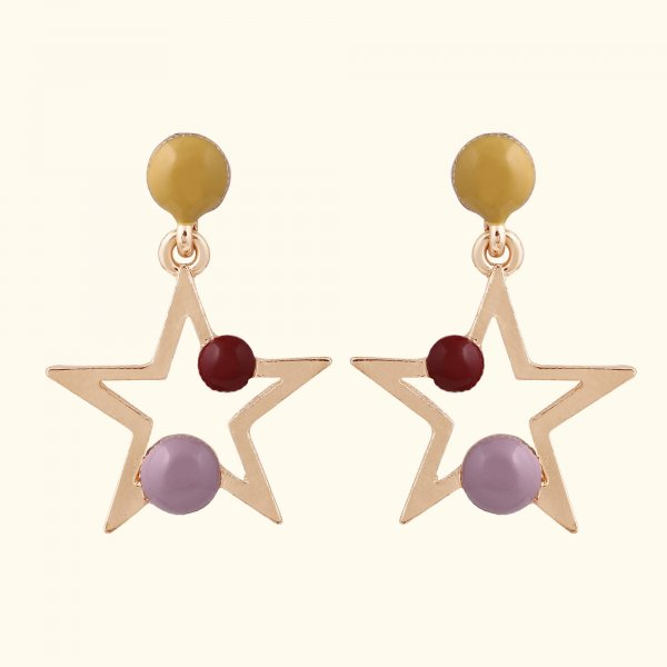 Fancy Star Drop EarRings