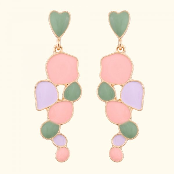 Pastel Irregular Drop EarRings