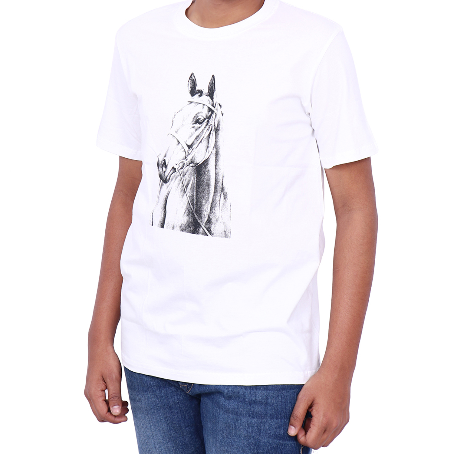 Sevya Horse Print Cotton T-Shirt