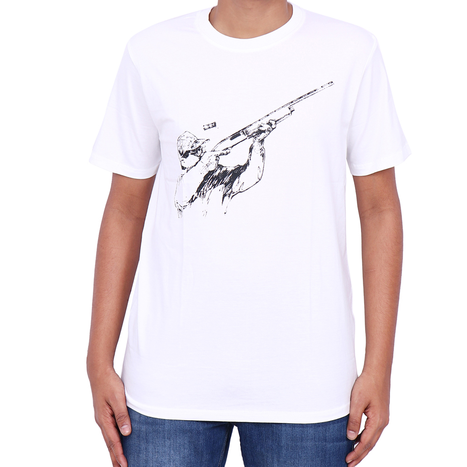Rifle Shooter Printed Cotton T-Shirt