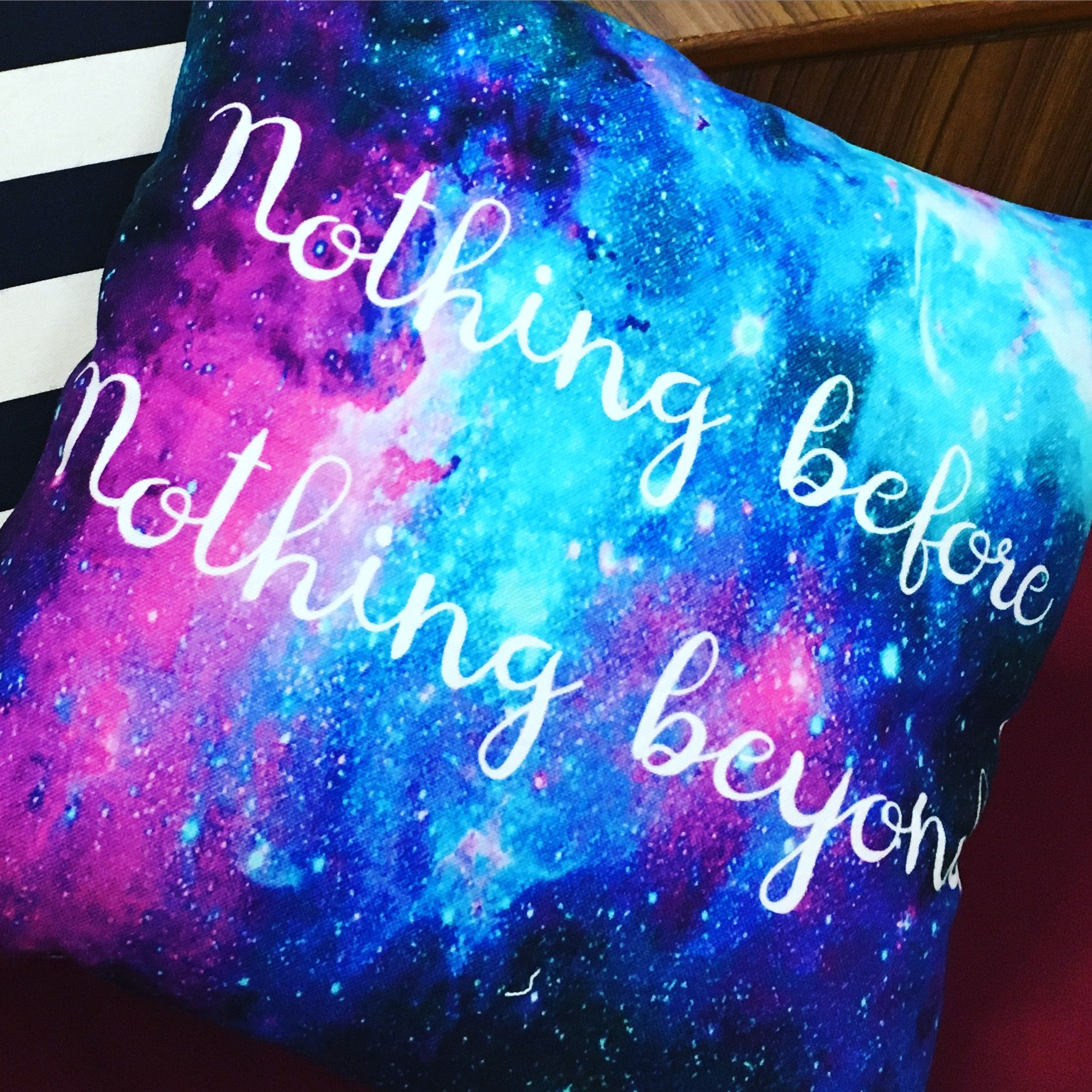 "Nothing before, Nothing beyond. 16"" Cushion Cover"