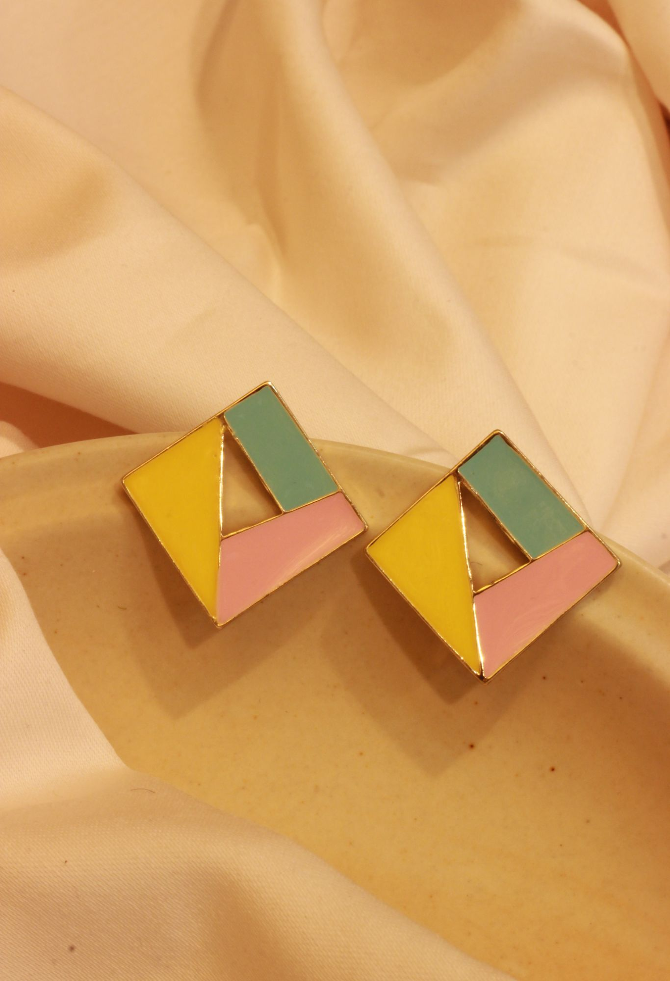 Dazzling Square Stud EarRings