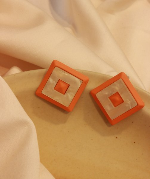 Flaming Orange Stud EarRings
