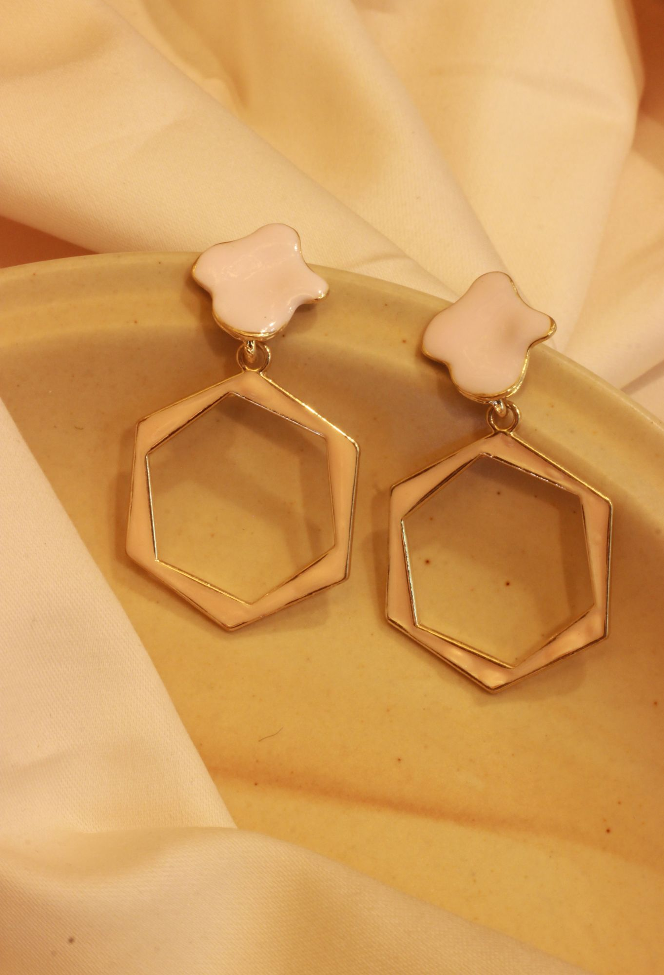 Crushin On Pink Octagonal Drop EarRings