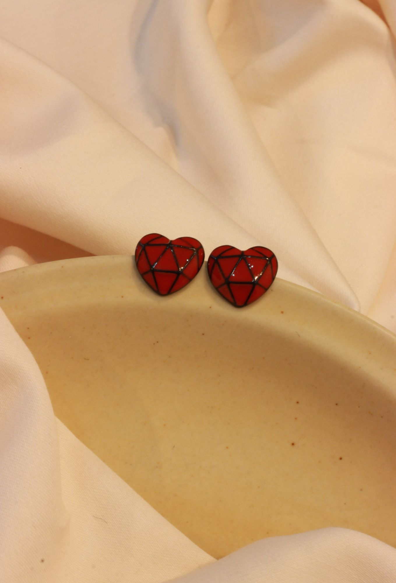 Heart Shaped Stud EarRings