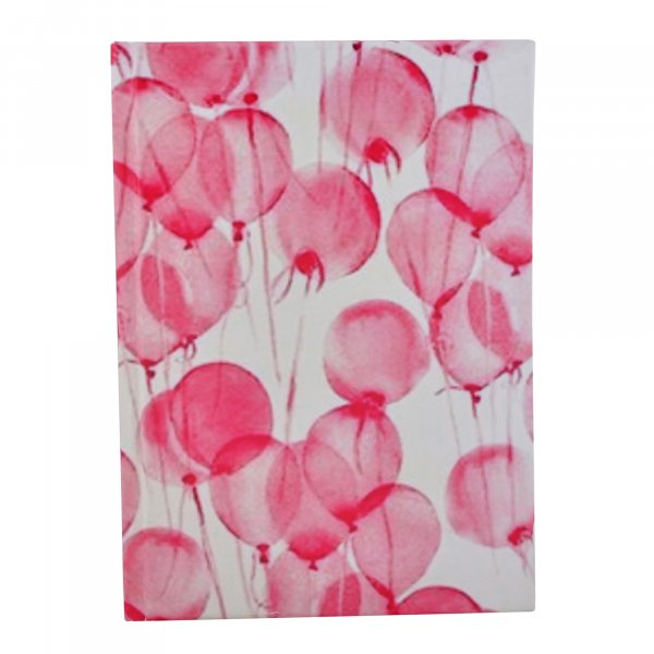 Pink Balloons Handmade Paper Diary