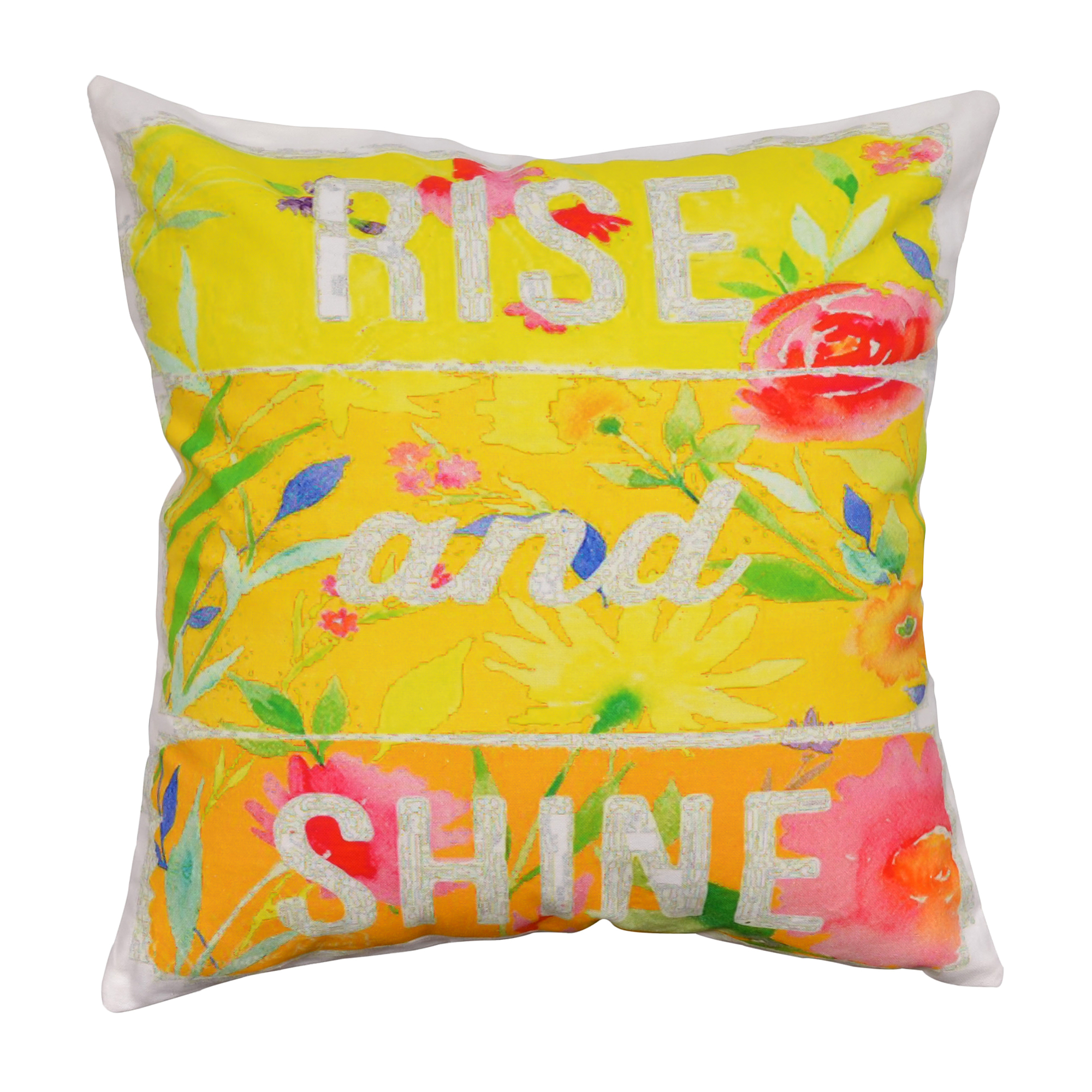 Rise & Shine Cotton Cushion Cover 16""