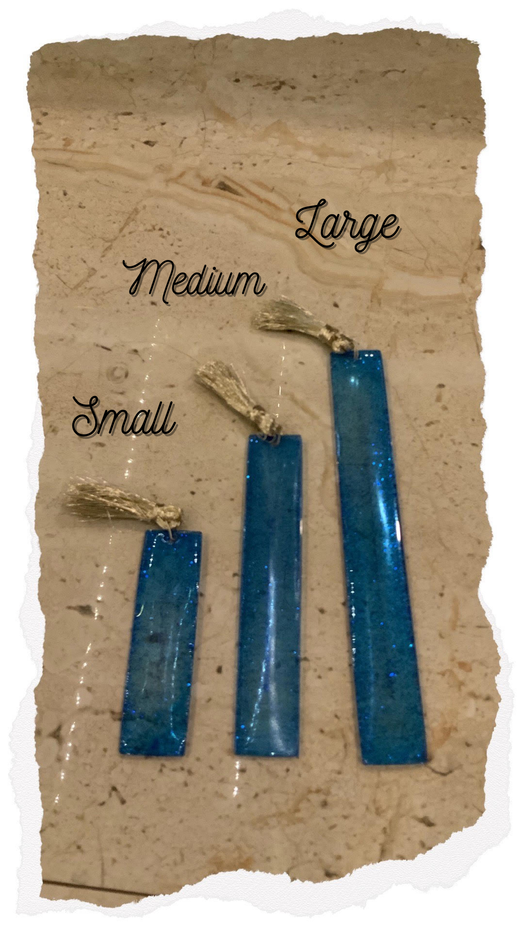 Blue Me Away! Handcrafted Bookmark